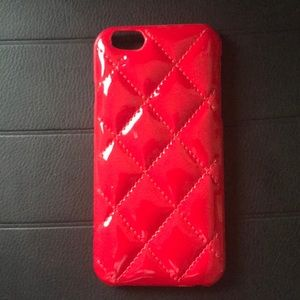 Accessories - iPhone 5 case plush red cushion